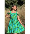 Flywheel Skirt Shoulder Detail Strappy Dress
